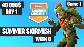 Fortnite Summer Skirmish Tournament Week 6 Day 1 Game 1 (EU) Highlights