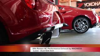 Alfa Romeo 4C Performance Exhaust by MADNESS - Lusso - Dual Side Exit (Sound Clip)