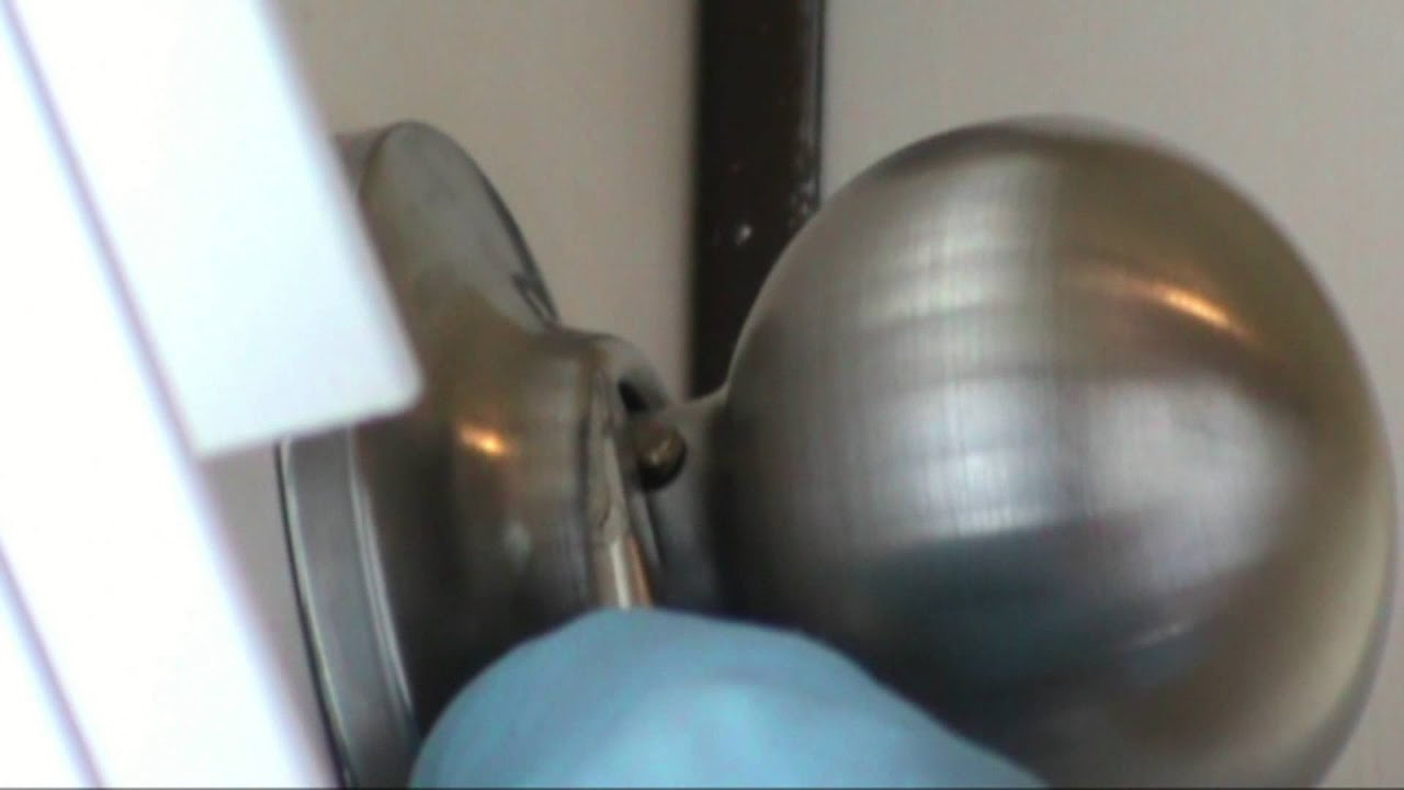 How to tighten a YALE passage knob. - YouTube