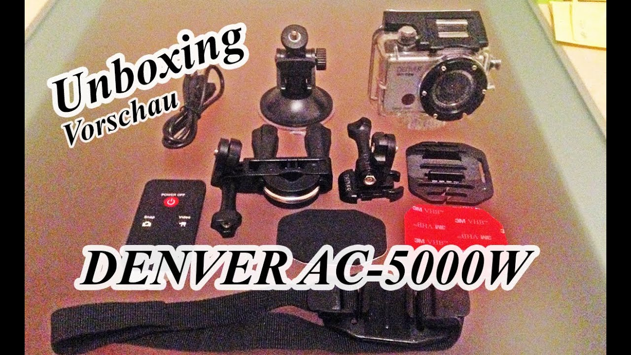 denver ac 5000w action cam wifi unboxing vorschau youtube. Black Bedroom Furniture Sets. Home Design Ideas