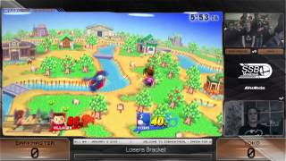 YokoBlue (Yoshi) vs Darkmaster (Villager) - SSB4 Winners Bracket - The Smash Loft