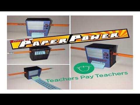 Teachers Pay Teachers Adventure Vending Machine Paper Craft Foldable