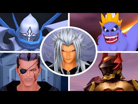 Kingdom Hearts 2 Final Mix - All Bosses (1080p/60fps)