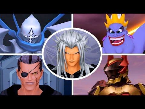 Kingdom Hearts 2 Final Mix - All Bosses (1080p/60fps)