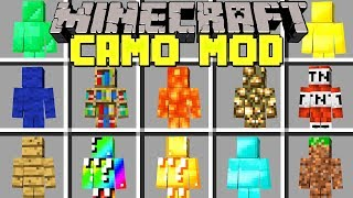 Minecraft CAMO MOD - TURN INVISIBLE ANYWHERE! - Modded Mini-Game