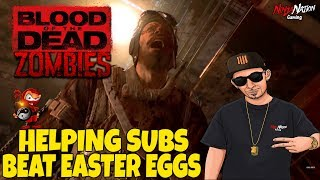 """BO4 ZOMBIES - HELPING SUBS BEAT """"BLOOD OF THE DEAD"""" EASTER EGG   Call Of Duty: Black Ops 4"""