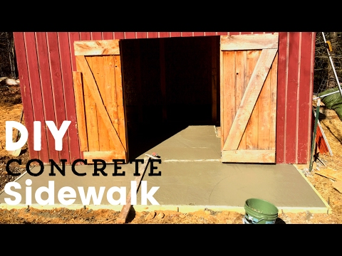 How To Build a Concrete Sidewalk - YouTube