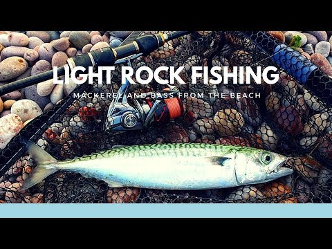 Light Rock Fishing - Mackerel And Bass From The Beach