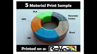 worlds 1st fdm 5 material 3d print
