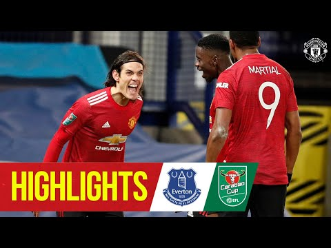 Highlights | Cavani & Martial send the Reds through | Everton 0-2 Manchester United | Carabao Cup