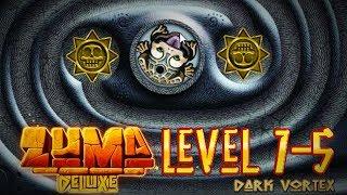 Zuma Deluxe (PC) - Popo Poyolli - Level 7-5- Dark Vortex Gameplay