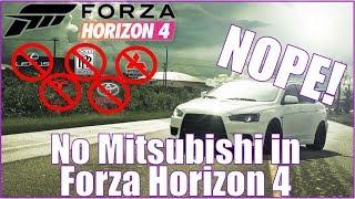 WTH! NO MITSUBISHI IN FORZA HORIZON 4