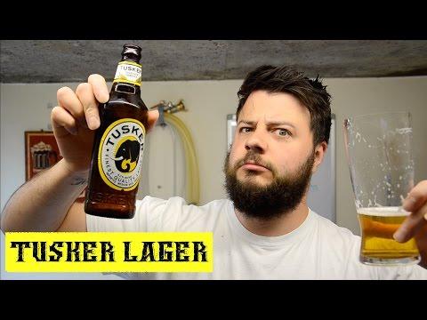 Beer Review ~ Tuskers Lager ~  Kenya Breweries