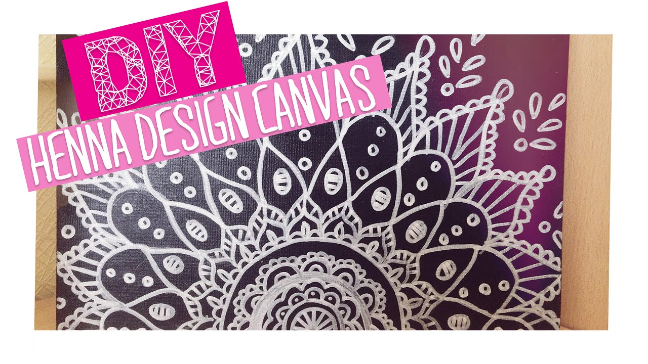 diy henna design canvas room decor youtube