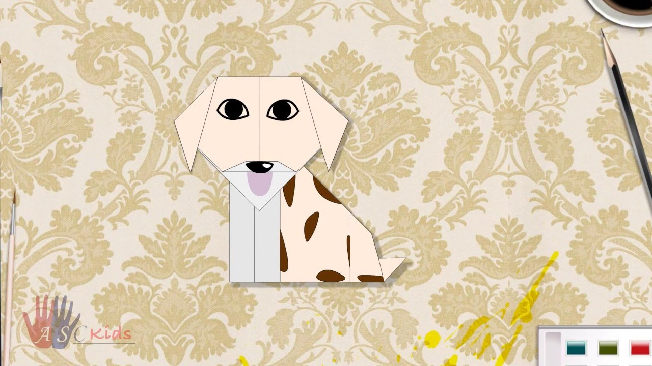 Origami dog face how to origami - How To Make Paper Dog Creative Origami Dog Easy Steps To Follow
