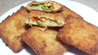 Crispy Box Patties Recipe_Chicken Cheese Box Patties Recipe_Ramzan Snacks