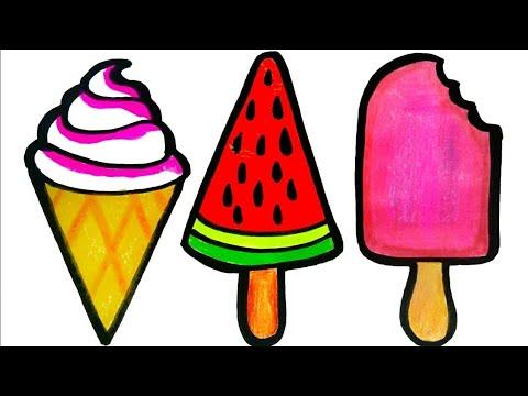Drawing Ice Cream Como Desenhar Sorvete Youtube