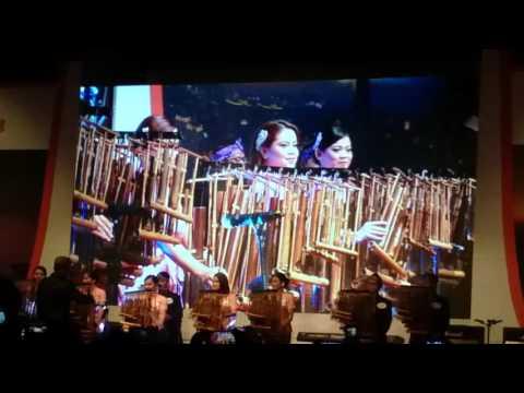 150516 Jokowi di Korea: Saung Angklung Udjo performance