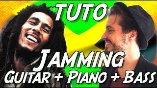 Bob Marley (Jamming) - Tuto Guitare + Piano + Basse - (Apprendre à jouer en groupe) - Stafaband