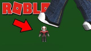VIREI O HOMEM FORMIGA NO ROBLOX ! ( Roblox 2 Player Superhero Tycoon )