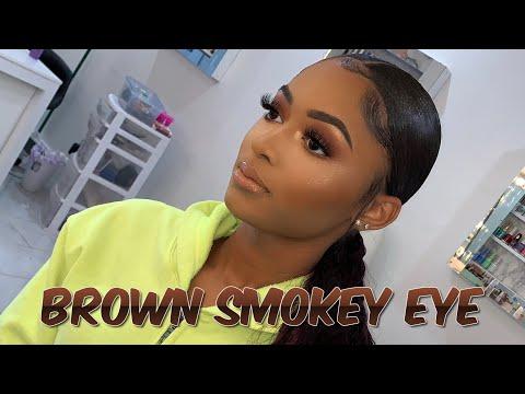 FALL BROWN SMOKEY EYE TUTORIAL | NESSA