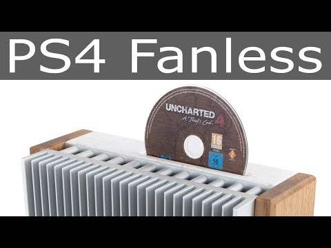 PS4 Fanless / wood & stone PlayStation 4 cooling mod