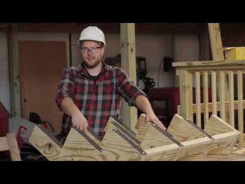 How to Build a Deck Part 9: Stair Install