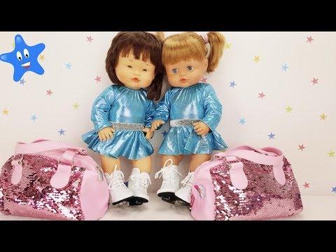 Primer da de patinaje - Estrenan ropa, mochilas y accesorios Frozen y Hello Kitty  Muecas Nenuco
