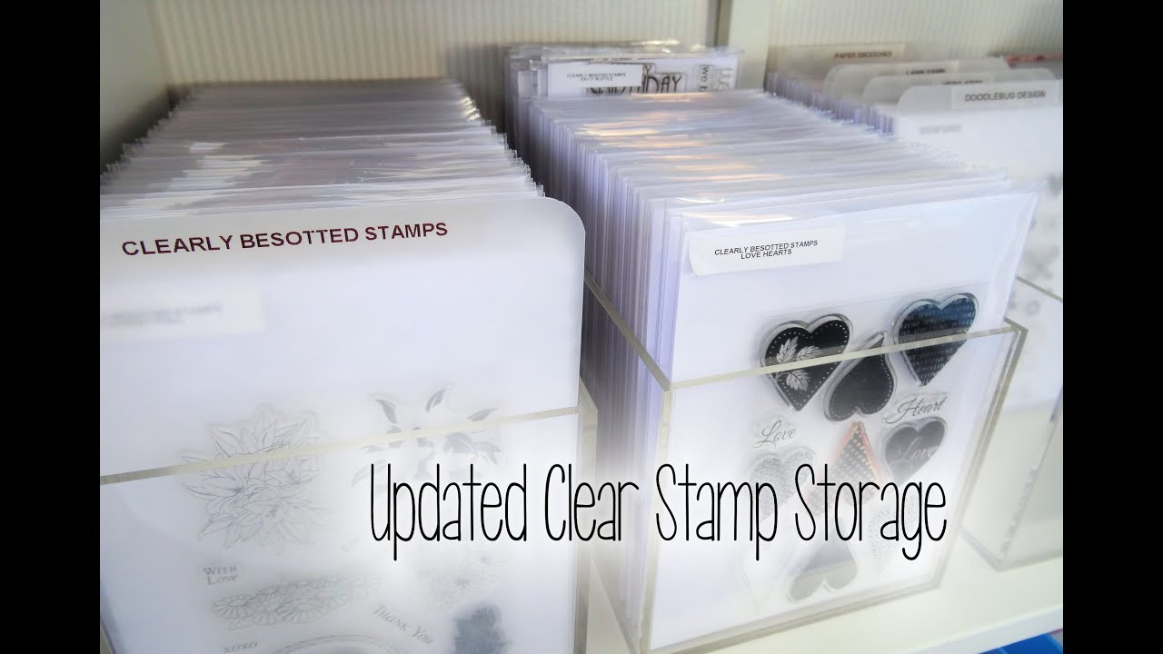 YouTube Premium & Updated Clear Stamp Storage 2014 | The Card Grotto - YouTube