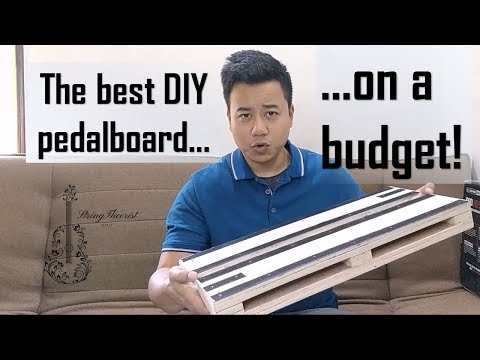 DIY Pedalboard - build your own for less than US $7 or INR 500!