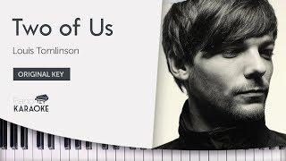 Louis Tomlinson - Two of Us (Karaoke Piano Instrumental) [Original Key] Video