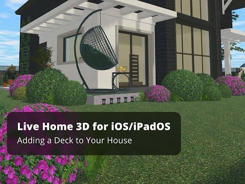 Adding a Deck - Live Home 3D Pro for iOS/iPadOS Tutorials