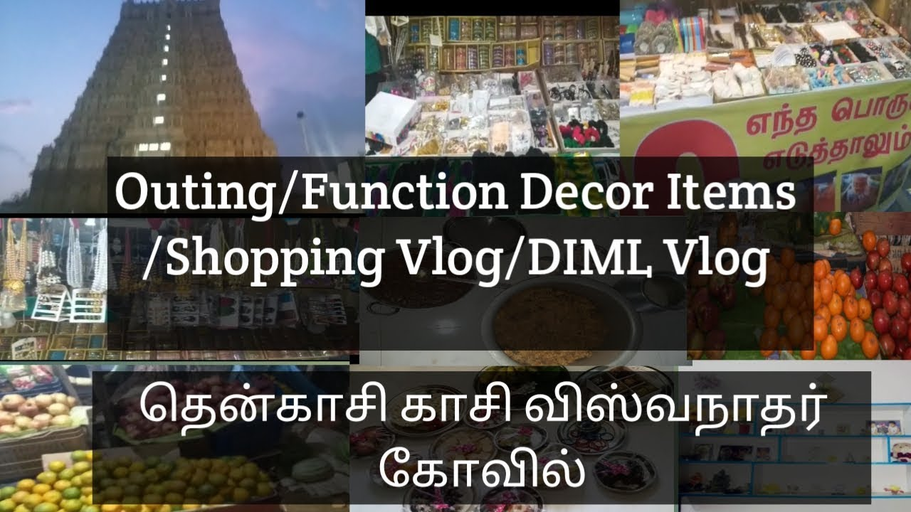 A Day In My Life Vlog Shopping Vlog Function Decoration Items Kasi