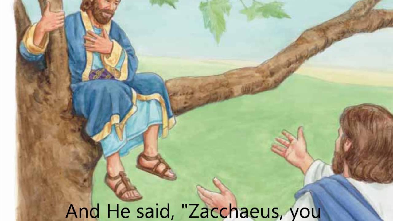 zacchaeus was a wee little man youtube