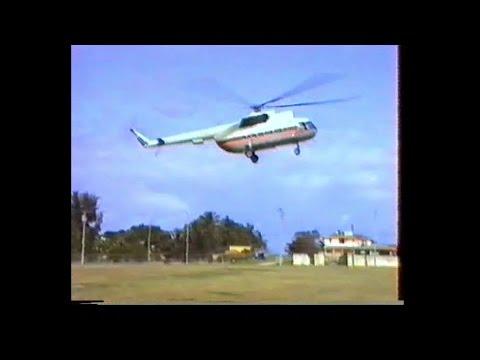 Ende der 80er, Flug in einer cubanischen Mil Mi-8