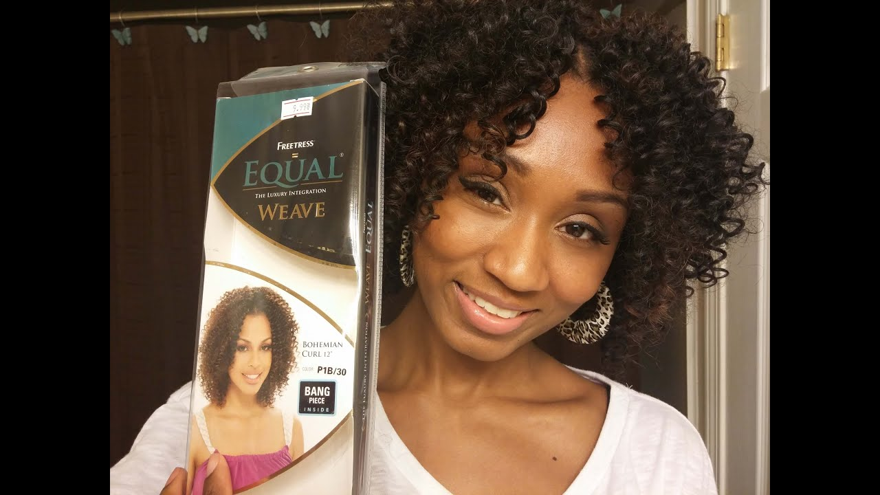 these curls guuurrl! freetress equal bohemian short curl weave 12