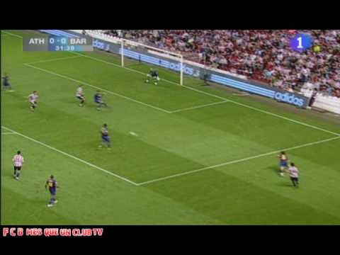 Athletic Bilbao Vs F.C Barcelona 1-2 Resumen Supercopa España (16.08.09) HQ