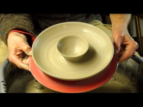 Throwing / Making a Pottery Double Serving Platter on the Wheel.