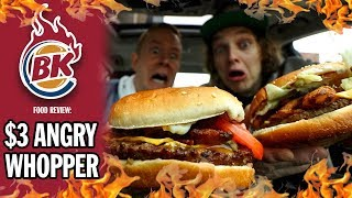 Burger King's $3 Angry Whopper Review | *IT'S BACK!*