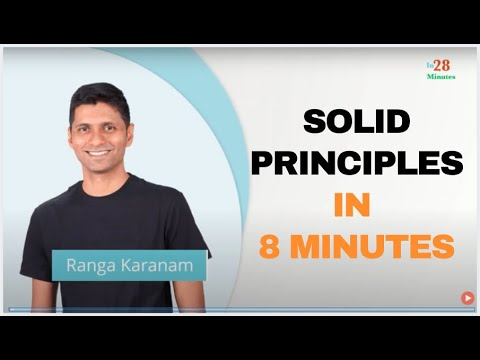 Software Design Introduction To Solid Principles In 8 Minutes Youtube