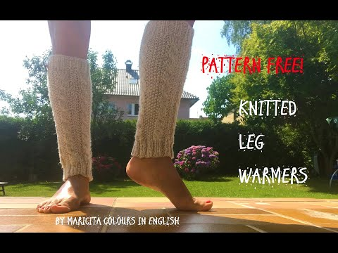 "Knitting Leg warmers Pattern ""Cable stitch""  by Maricita Colours in English"