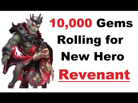 Rolling 10k Gems For REVENANT New Hero On Ppedofilusiaubas Acc Castle Clash Rolls