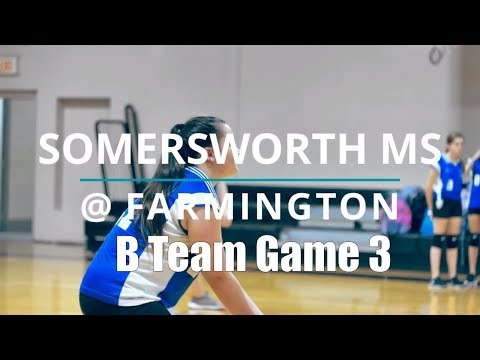 2018 Somersworth Middle School Volleyball @ Farmington Middle School Game 3
