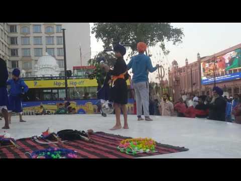 Nihang Sikhs showing Gatka Skills, Amritsar, India- Video3