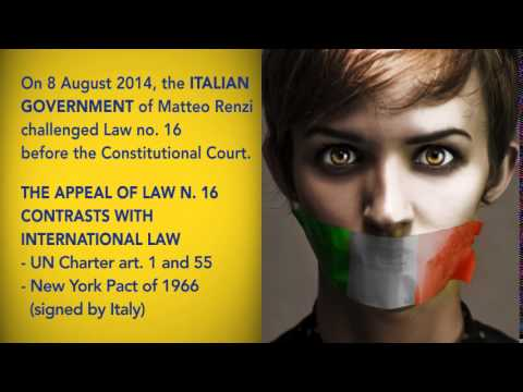 Legge 16 - ITALY HAS DISCARDED EVEN THE RIGHT TO DEMOCRACY