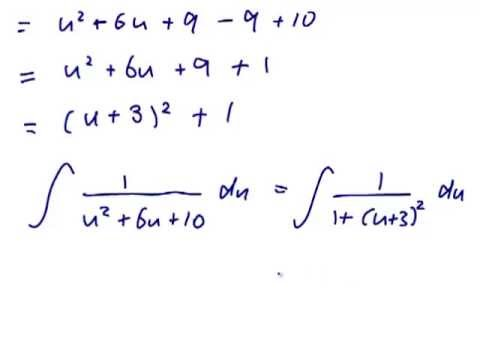 how to find intergral of a quadratic