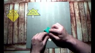 Как сделать самурайский шлем из бумаги. Мастер класс. Оригами - видео урок со схемой.