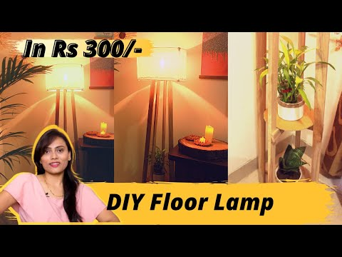 diy-wooden-floor-lamp-at-home-|-diy-lampshade-|-living-room-makeover-with-floor-lamp
