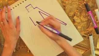 How to Draw Minecraft Enderman - Artist Rage