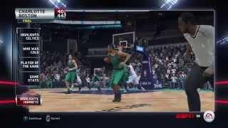 NBA 2015 - Boston Celtics vs Charlotte Hornets - Post Highlights - NBA LIVE 15 PS4 - HD